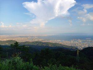 六甲山頂からの景色